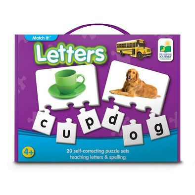 The Learning Journey Match It! Letters