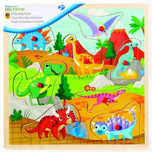 Universe Of Imagination 8Pc Peg Puzzle - Assorted