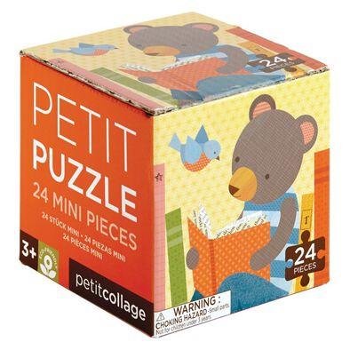 Petit Collage Petit Puzzle Reading Bear