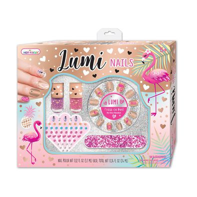 Hot Focus Lumi Nails Flamingo
