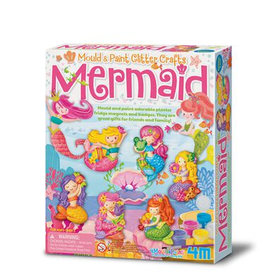 4M Mermaid Mould & Paint Glitter Crafts