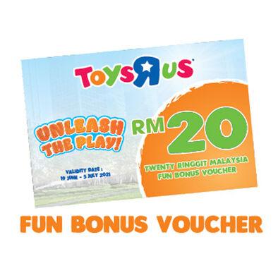 School's Out Unleash The Play Fun Bonus RM 20 Voucher