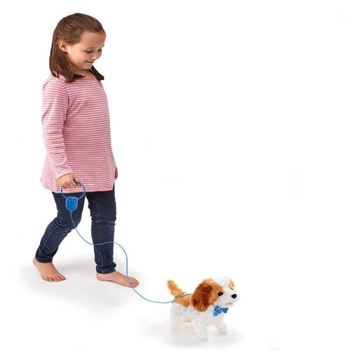 Pitter Patter Pets Walk Along Puppy(Brown And White)