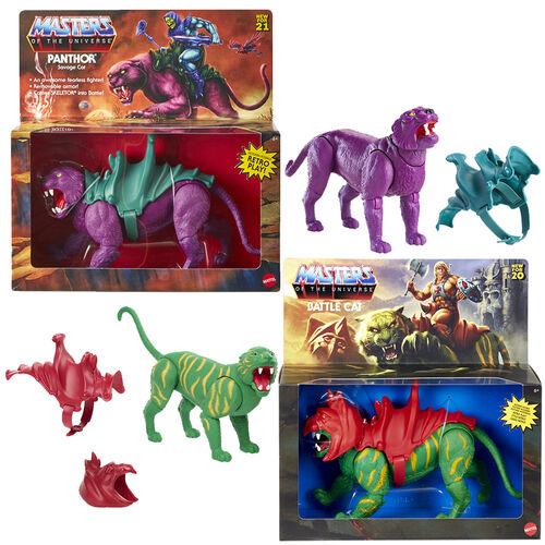 Masters of the Universe Hyper Retro Creature Panthor & Battle Cat Set of 2