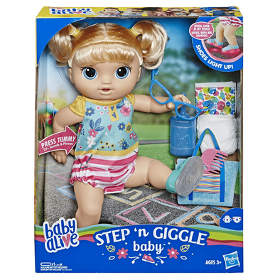 Baby Alive Step 'n Giggle Baby Blonde Hair Doll