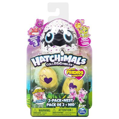 Hatchimals Colleggtibles S3 Blind 2 Pack Egg With Nest