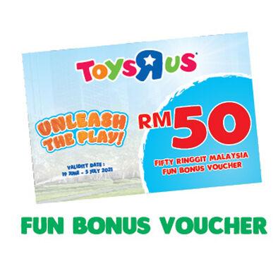 School's Out Unleash The Play Fun Bonus RM 50 Voucher