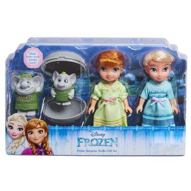 Disney Frozen Anna Petite & Elsa W/Trolls