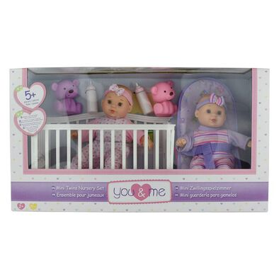 You & Me Mini Twins Nursery Set