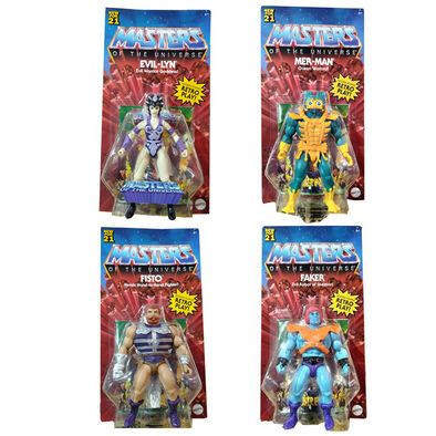 Masters of the Universe Origins Dash J Figure Set of 4