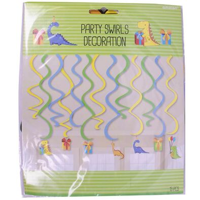 Party Swirls Decoration 13 Pieces (Dinosaurs)