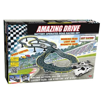 GB Battery Operated Amazing Drive Road Racing Set