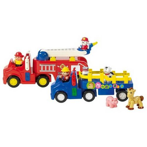 BRU Pre-School Farm Tractor/Fire Truck - Assorted