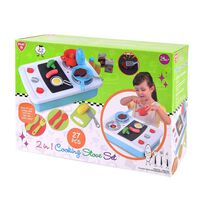 Playgo 2 In 1 Battery Operated Cooking Stove Set (27 Pcs)