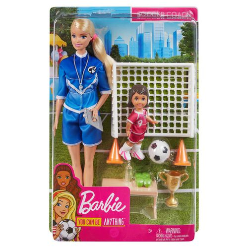 Barbie You Can Be Anything Soccer Coach Doll