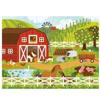 Petit Collage Floor Puzzle-On The Farm