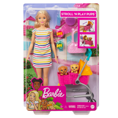 Barbie Stroll 'N Play Pups Playset