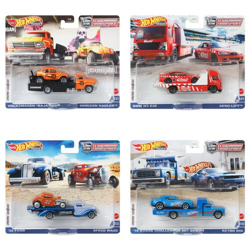 Hot Wheels Team Transport Dash L 2021 Mix 1 Set of 4 Pieces