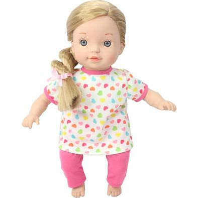 You & Me 12 Inch Satin Bow Toddler Doll - Assorted