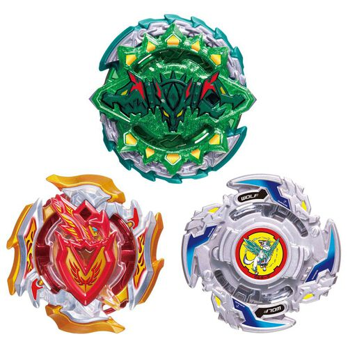 TAKARA TOMY-Beyblade Burst Set B-121 Cho-Z Triple Booster Set 04 - Assorted