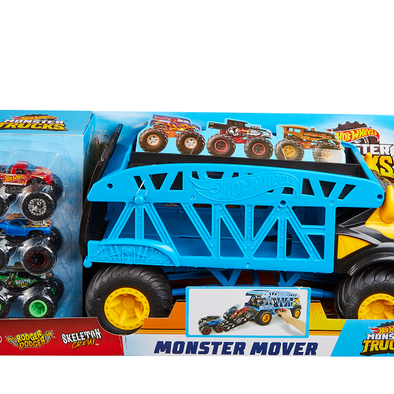 Hot Wheels Monster Trucks Monster Mover+3 Trucks