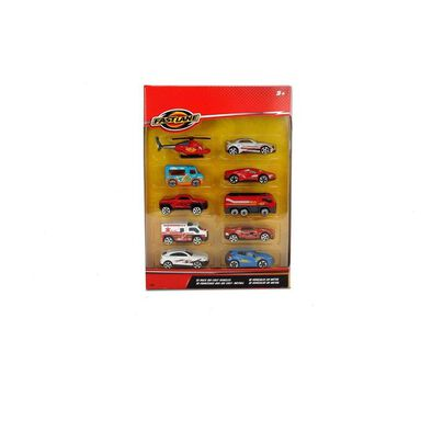 Fast Lane 10 Pack Diecast and Vehicles