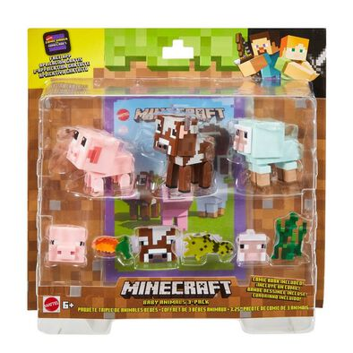 Minecraft Comic Mode Baby Animals 3 Pack