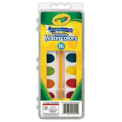 Crayola 16 Colours Washable Watercolors