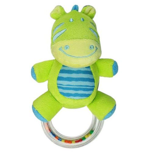 BRU Soft Toy Friends Ring Rattle - Assorted