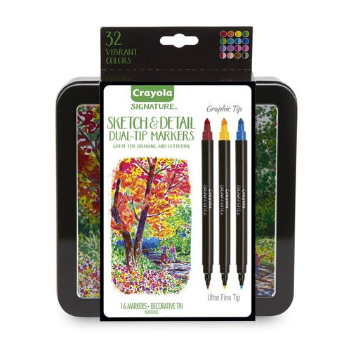 Crayola 16Ct Sketch Detail Duel-Ended Markers