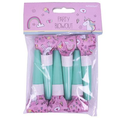 Party Blowouts 6 Pieces Unicorn
