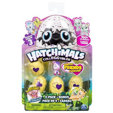 Hatchimals Colleggtibles S3 4Pk+Bonus As