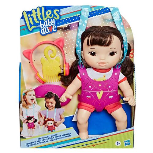 Baby Alive Littles Carry'n Go Squad Girl (Black)
