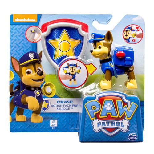 Paw Patrol Action Pack Pup & Badge - Assorted