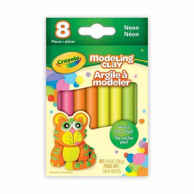 Crayola 8 Ct. Modeling Clay, Neon - Assorted
