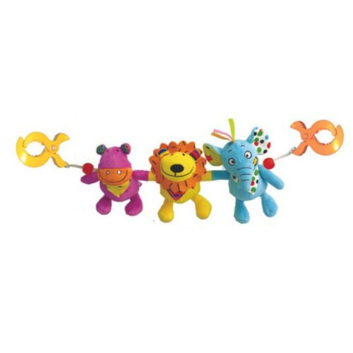 Biba Toys My Jungle Freinds Stroller Clip